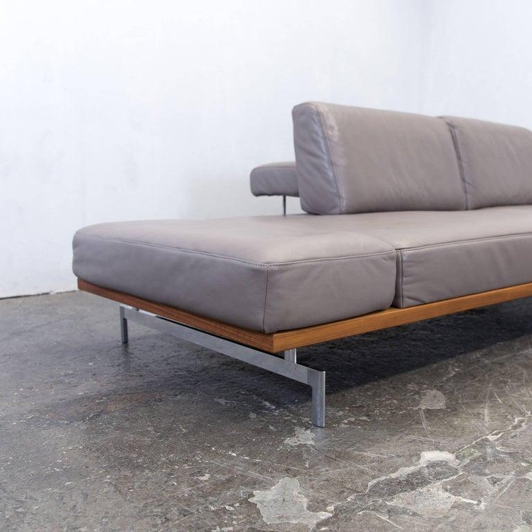 clearance sale super cute cheap sale Joop! 24/7 Designer Corner Sofa Grey Taupe Leather Wood ...
