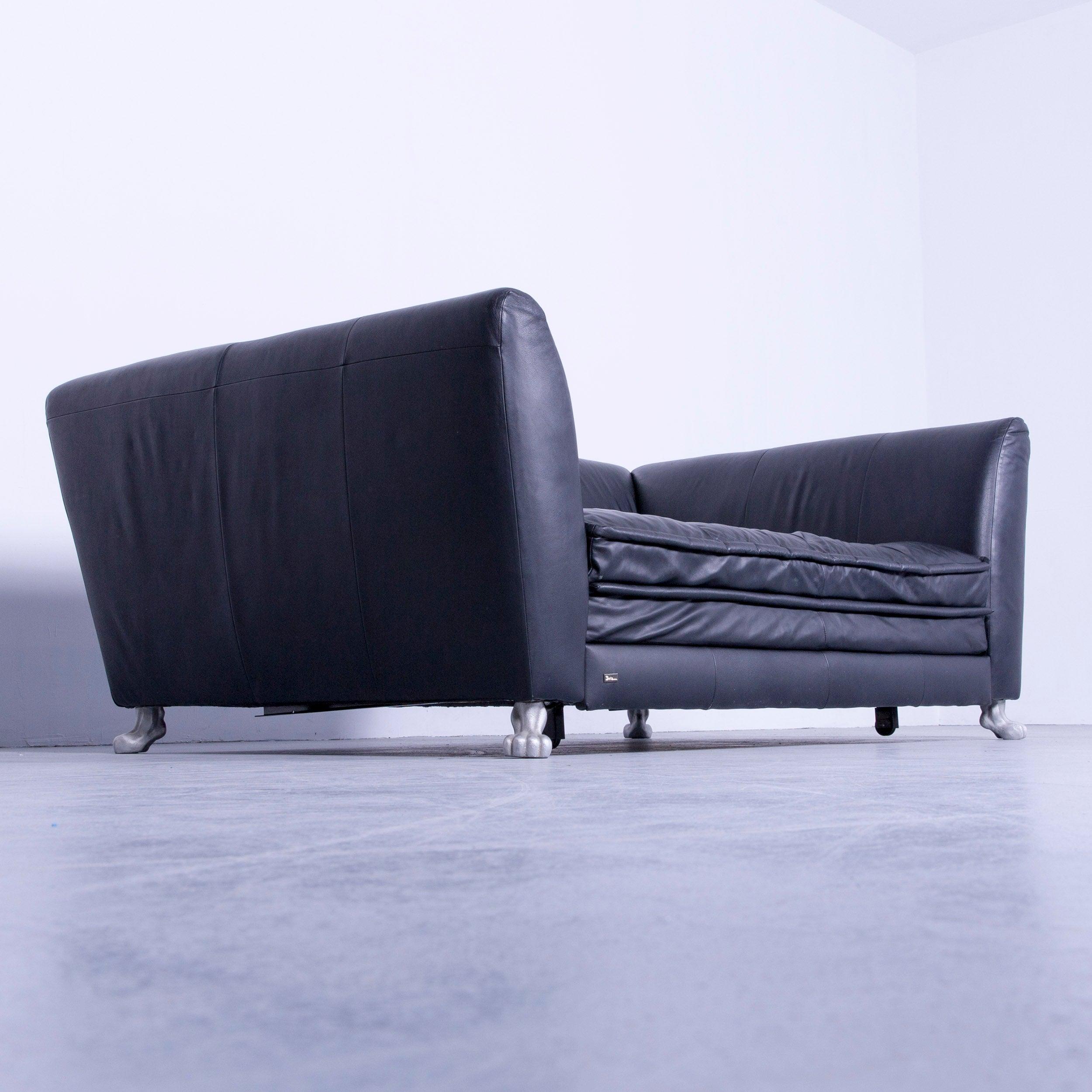Bretz Monster Designer Sofa Black Leather Three-Seat Couch Sleeping ...