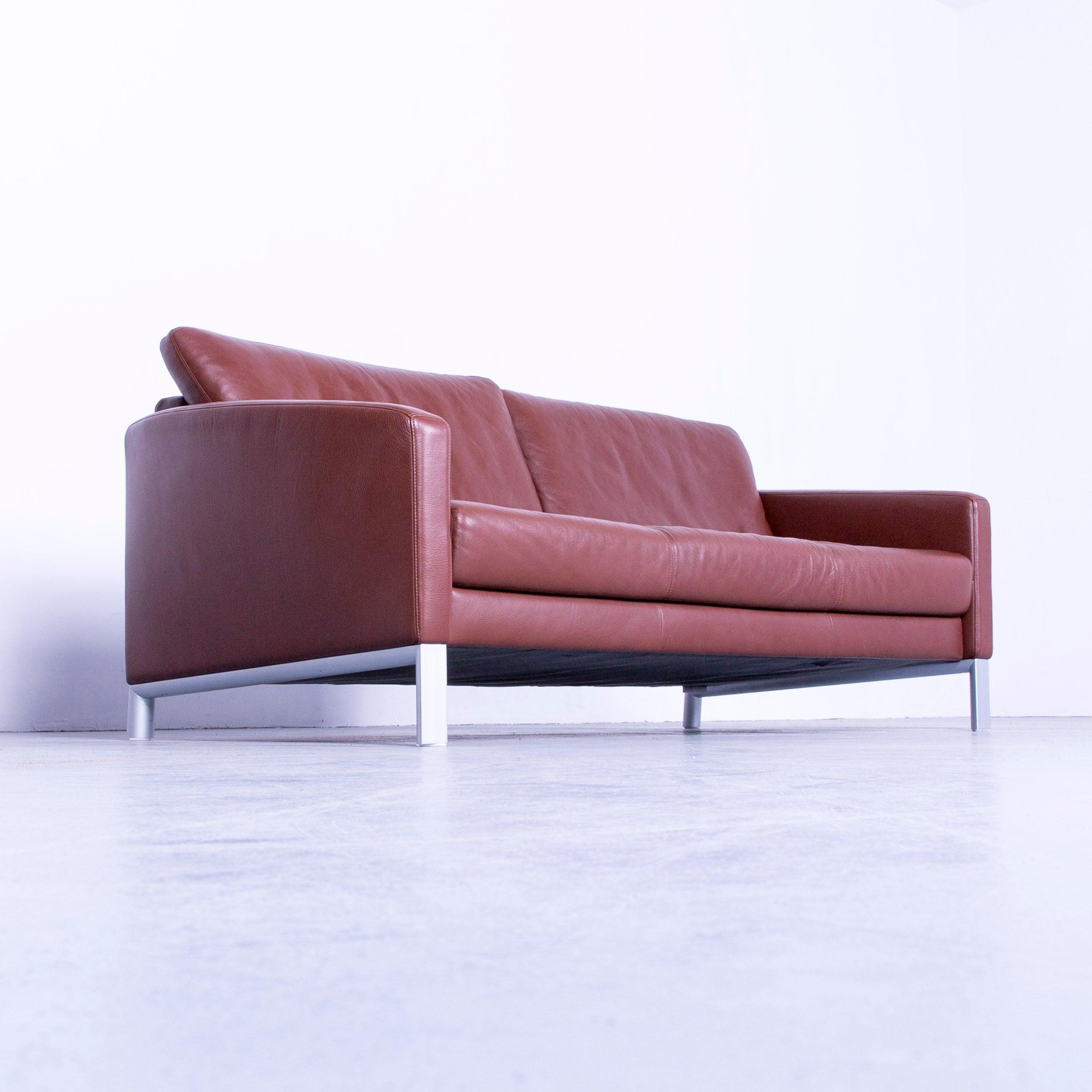 Schön Couch Leder Braun Foto Von Rolf Benz 1200 Designer Sofa Brown Three-seat