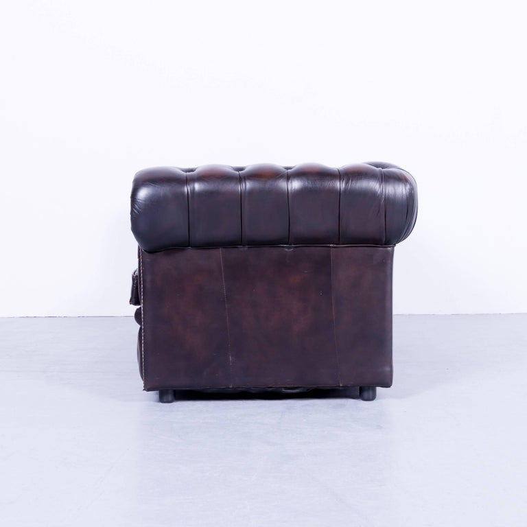 chesterfield three seat sofa brown mocca vintage retro. Black Bedroom Furniture Sets. Home Design Ideas