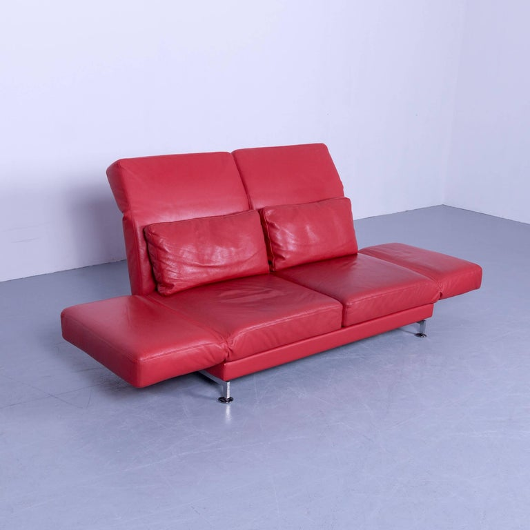 br hl and sippold moule designer sofa leather red two seat. Black Bedroom Furniture Sets. Home Design Ideas