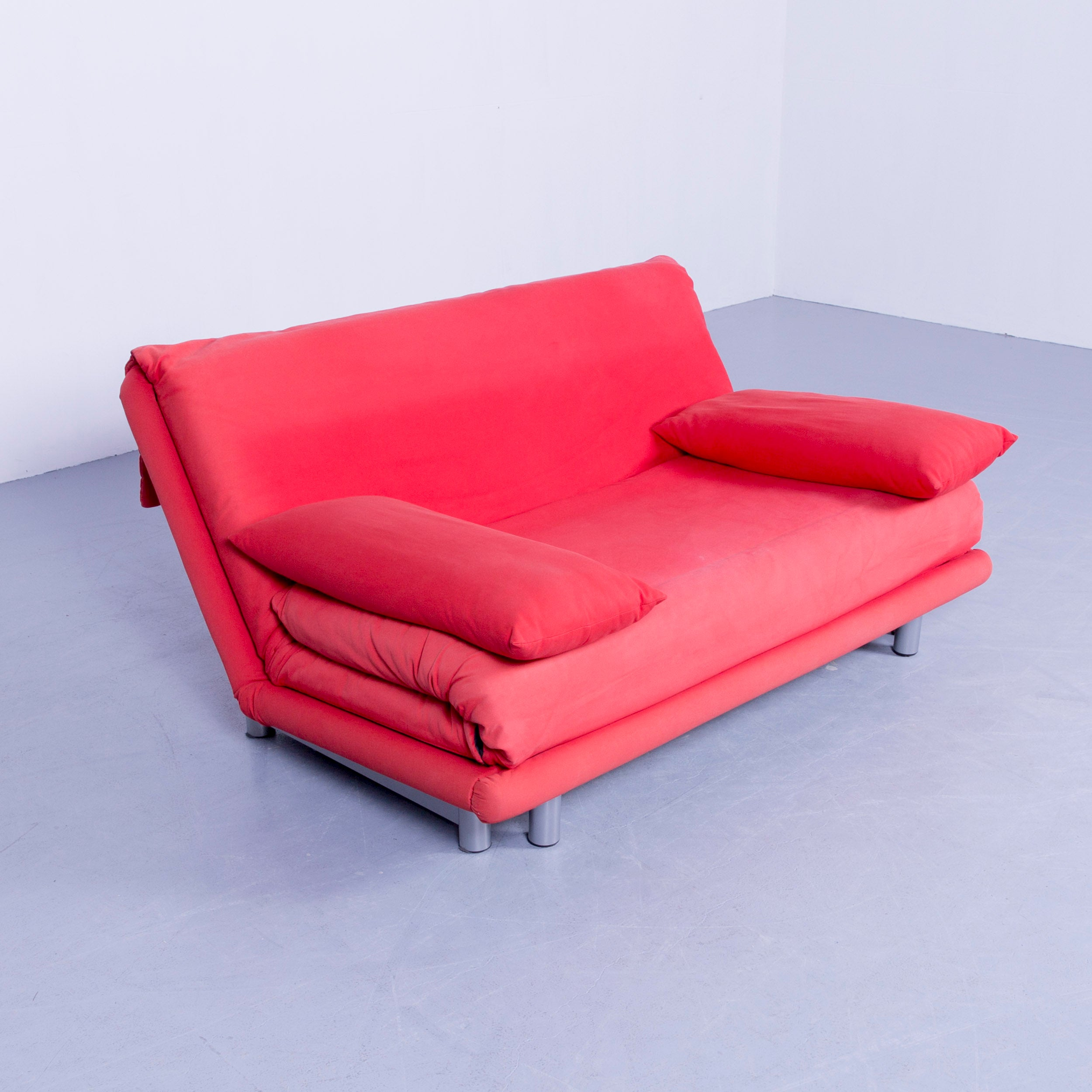 Original Ligne Roset Multy Cloth Sleeping Couch Red Two Seat