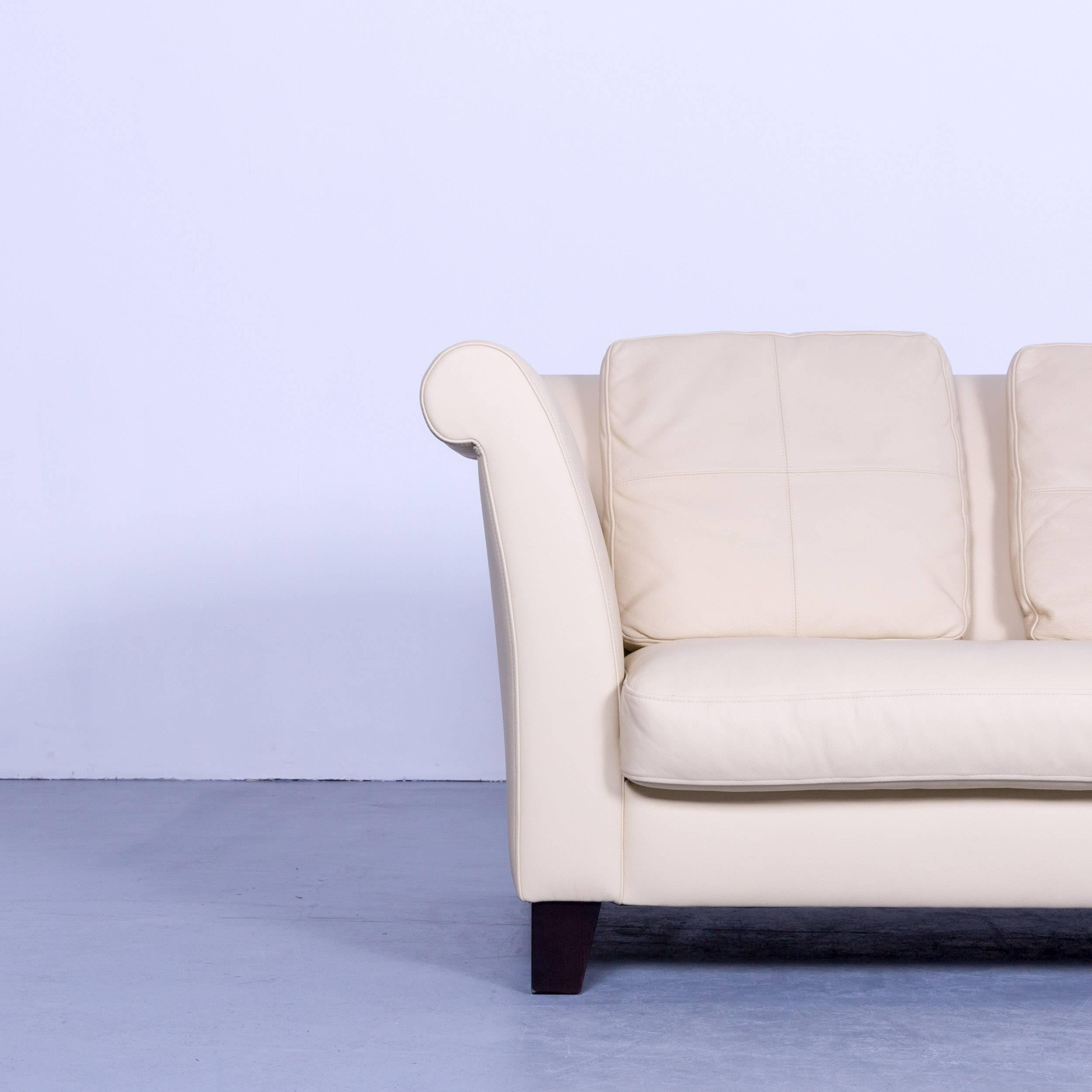 Amazing German Machalke Ritz Designer Sofa Leather Crme Beige Threeseat  Couch Modern For Sale With Sofa Beige Leder With Sofa Leder Creme