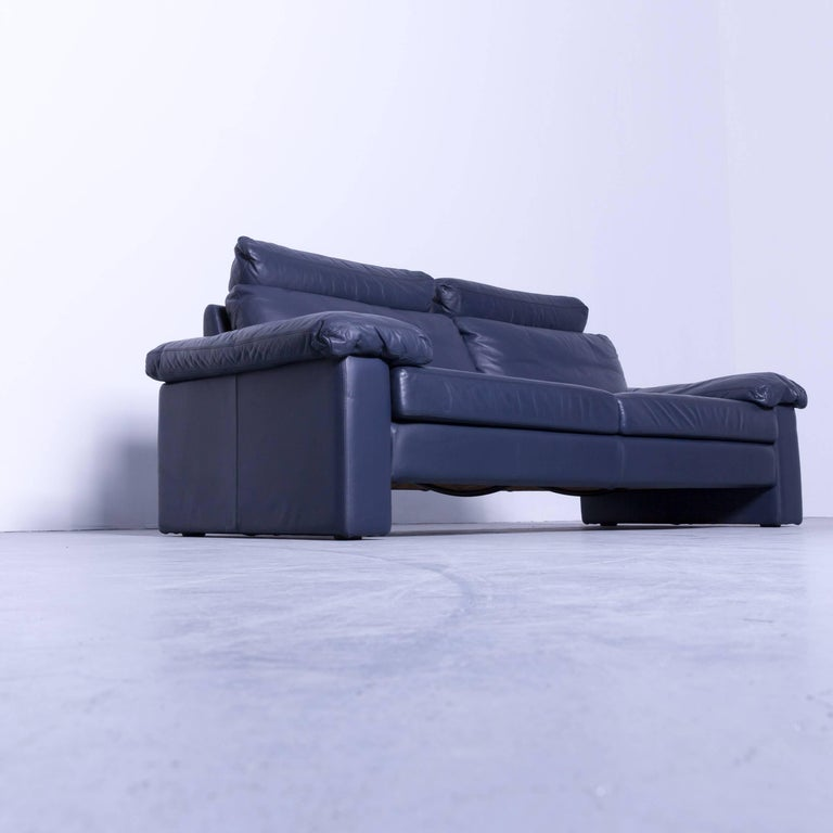 cor conseta designer sofa leather blue three seat couch. Black Bedroom Furniture Sets. Home Design Ideas