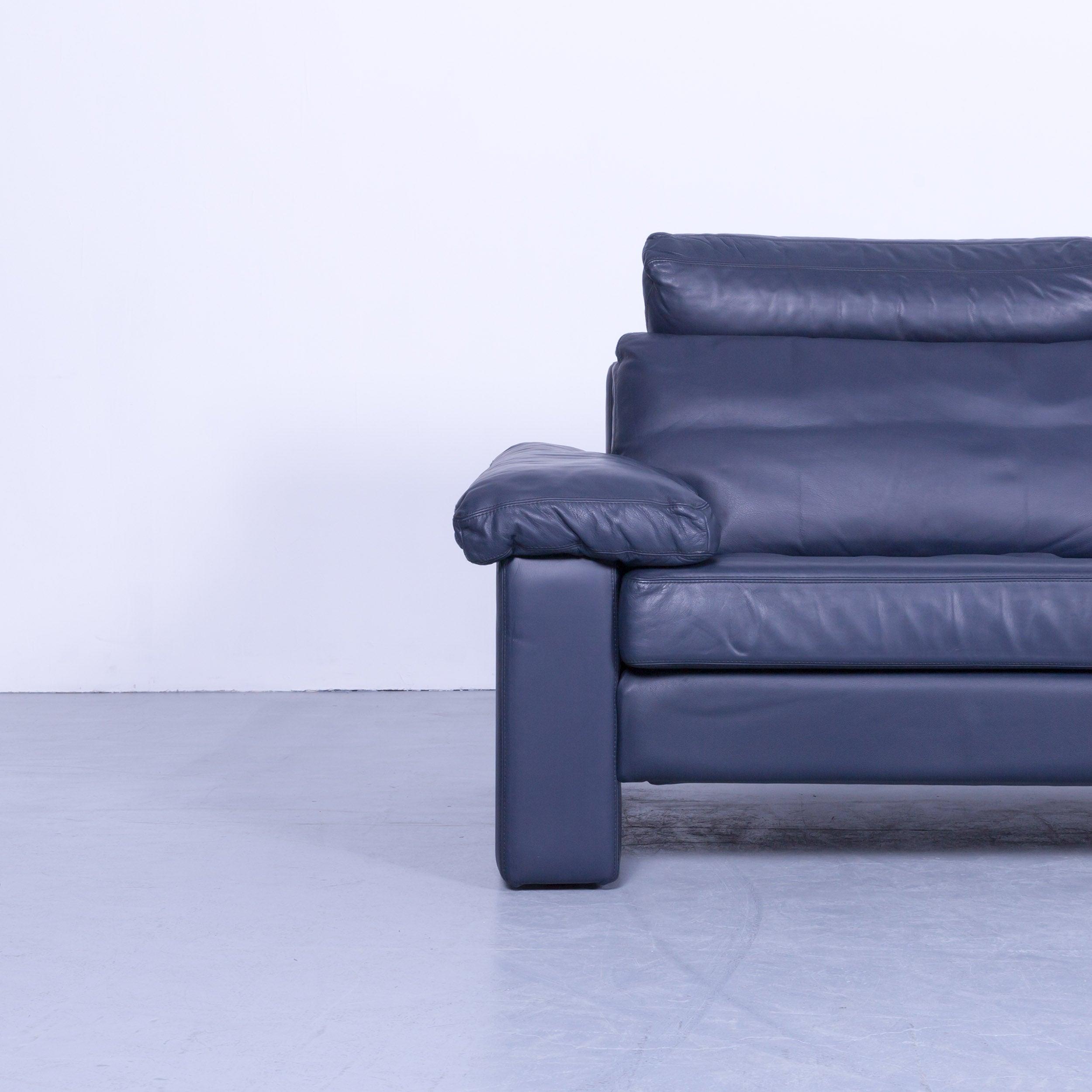 Cor Conseta Designer Sofa Leather Blue Three Seat Couch Modern At