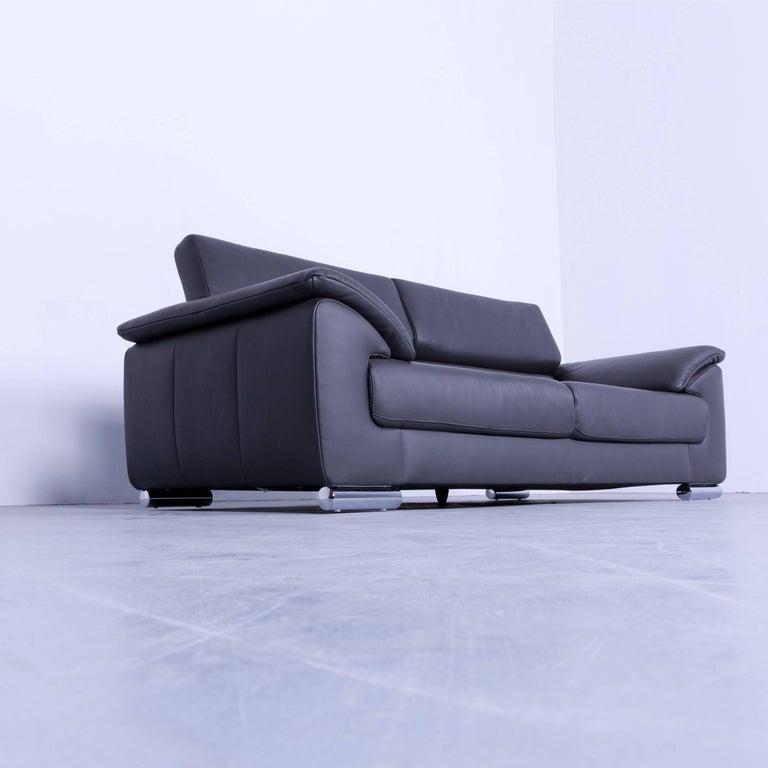 Ewald Schillig Brand Blues Designer Sofa Anthracite Dark