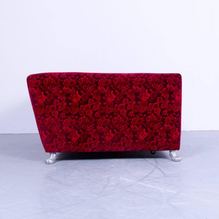 bretz monster sofa red fabric three seat couch rose pattern sleeping couch bed at 1stdibs. Black Bedroom Furniture Sets. Home Design Ideas