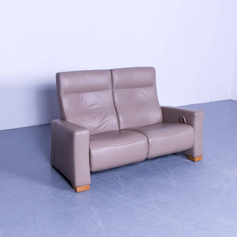 Himolla Designer Sofa Set Leather Cr Me Beige Couch Relax Function Recliner For Sale At 1stdibs