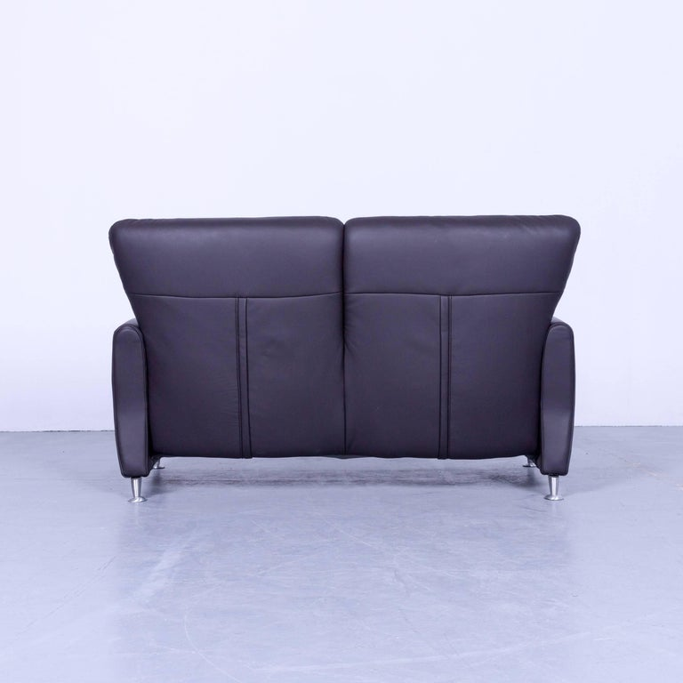 Himolla Designer Relax Sofa And Armchair Set Leather Brown