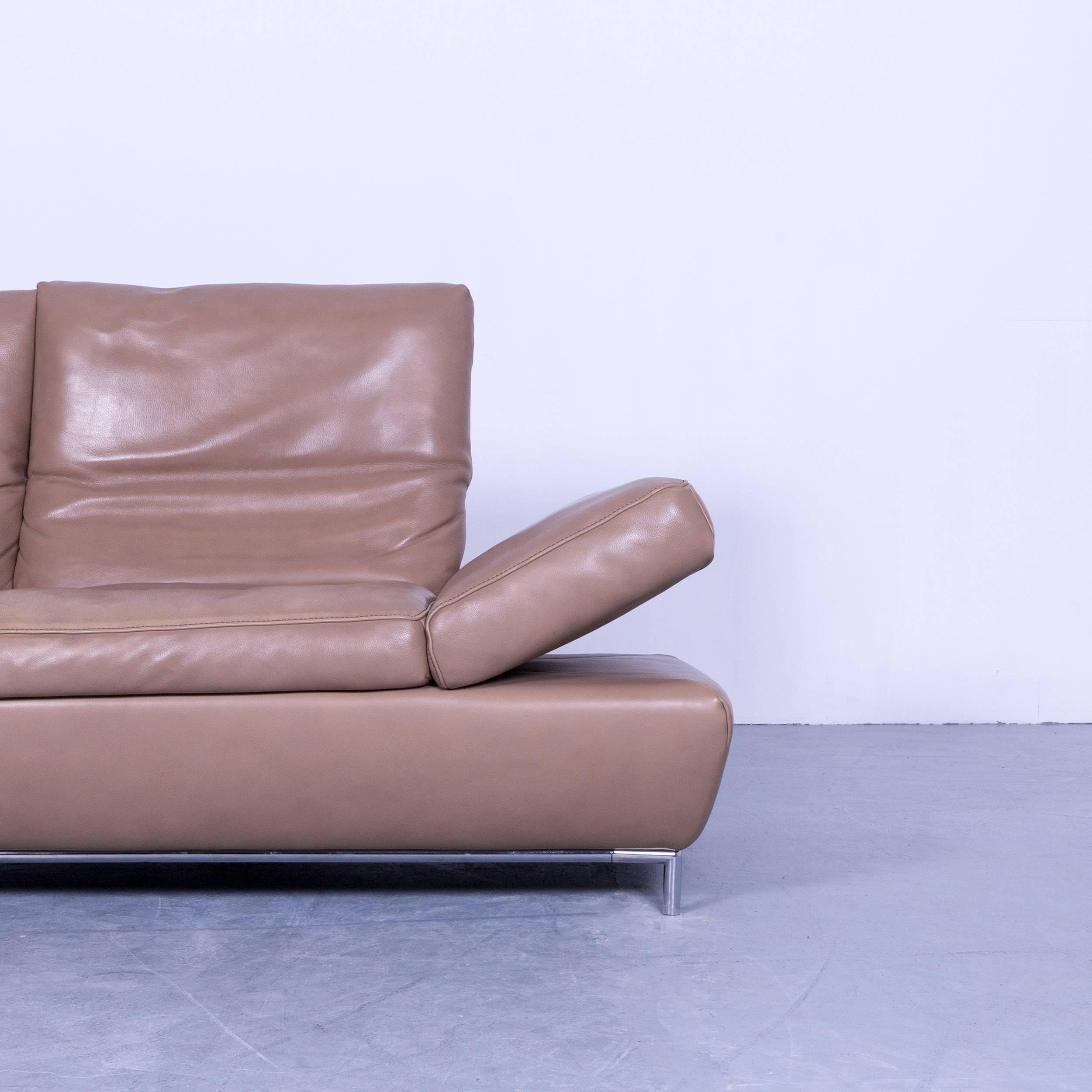 Koinor Designer Three Seat Sofa In Light Brown In A Minimalistic And Modern  Design,