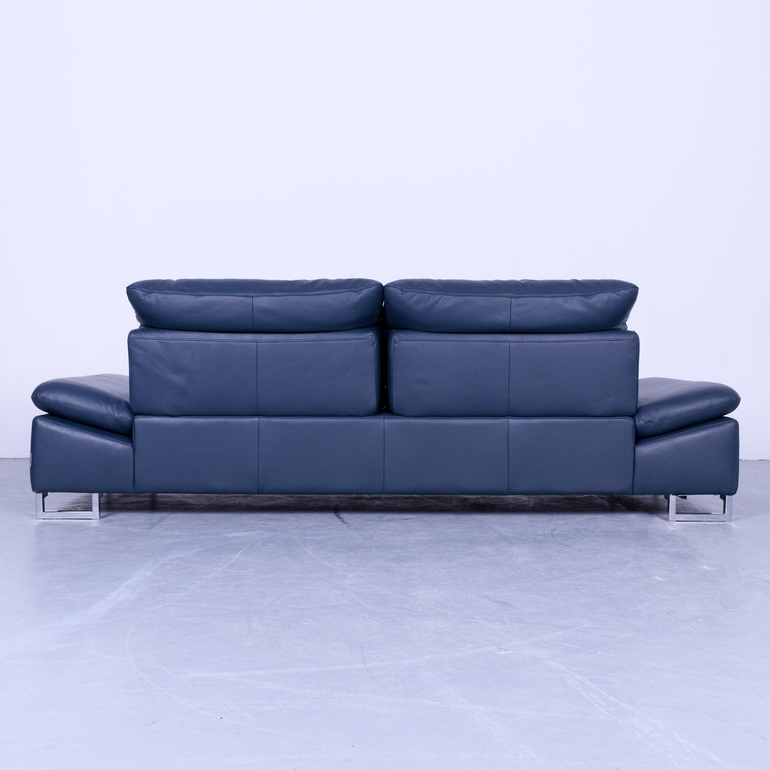 Liebenswert Sofa Mit Funktion Dekoration Von Willi Schillig Designer Three Seat Blue Leather