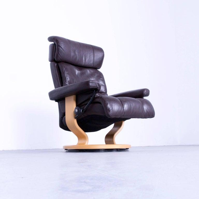 ekornes stressless memphis armchair brown leather modern. Black Bedroom Furniture Sets. Home Design Ideas