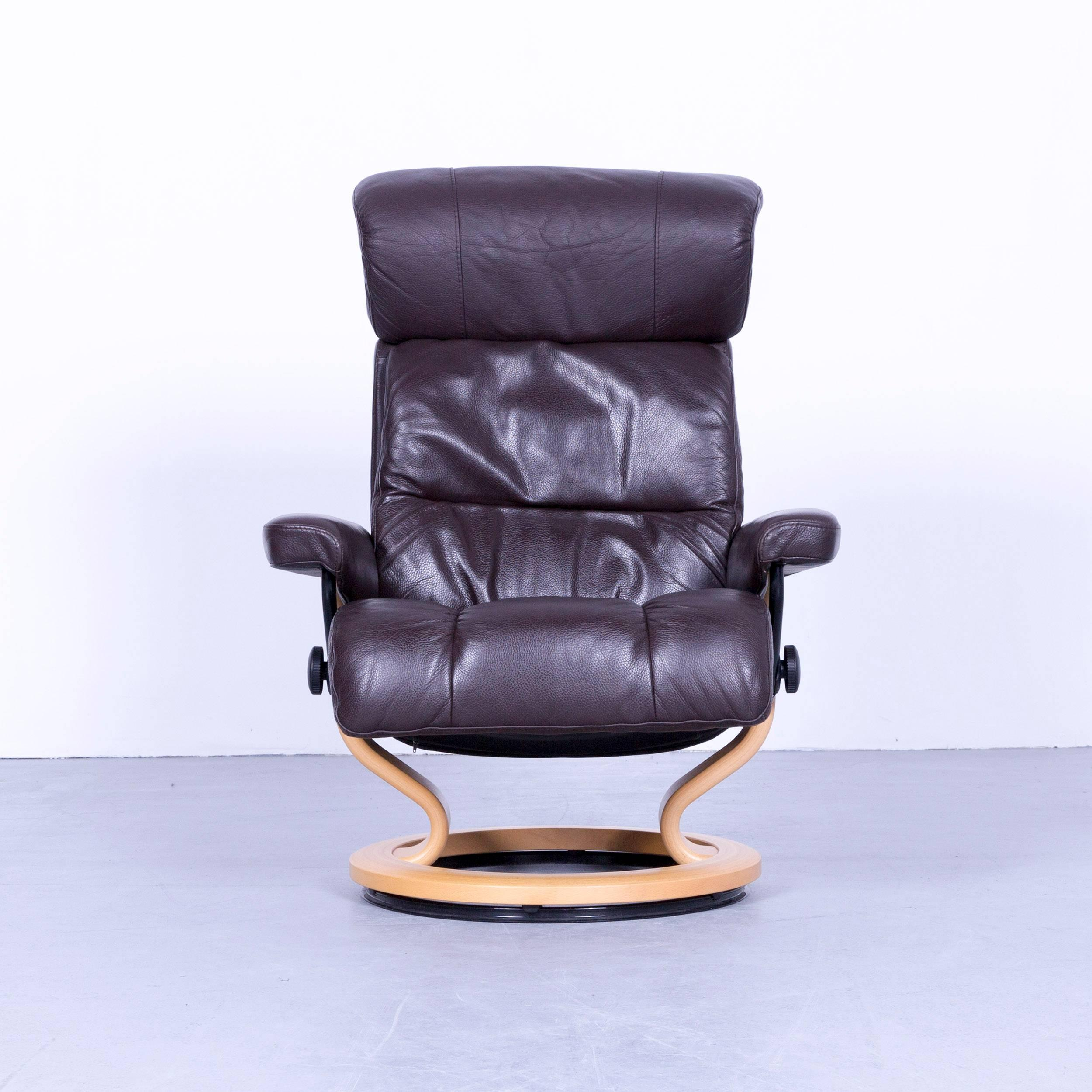 Ekornes Stressless Memphis Armchair Brown Leather Modern Recliner Chair  Designer, With Convenient Functions, Made