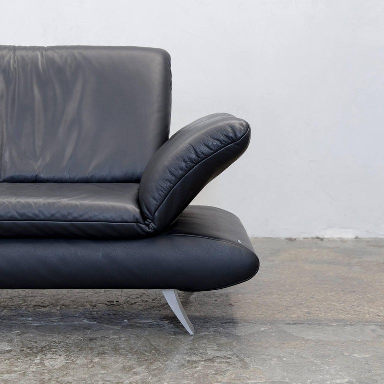 Koinor Rossini Designer Two Seat Sofa Black Leather Function Modern