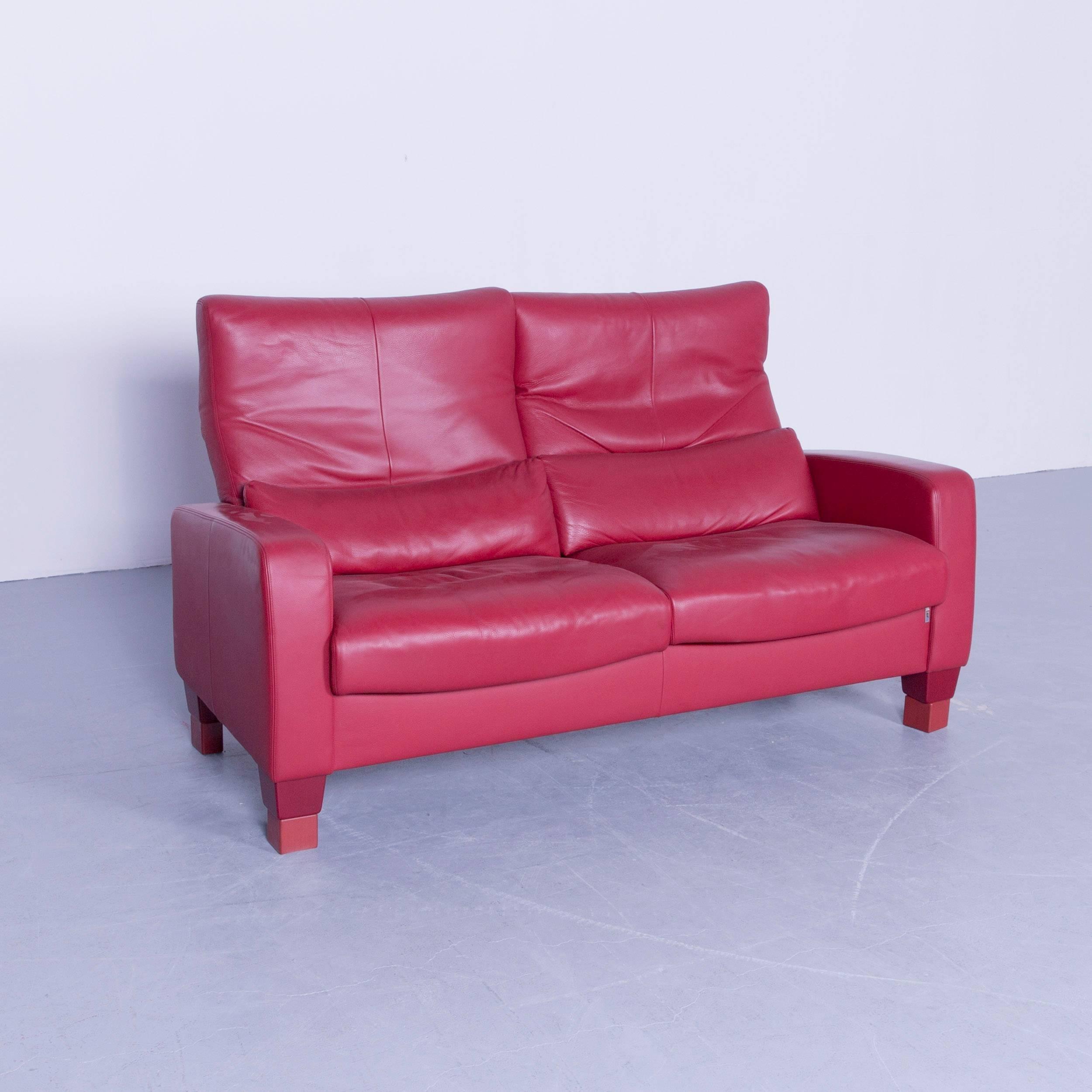 Fesselnde Sofa Mit Funktion Sammlung Von Erpo Designer Leather Red Two-seat Couch Modern