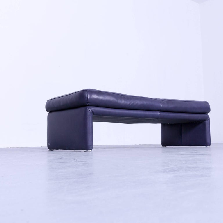 Pouf Leder koinor raoul designer footstool purple eggplant colored leather