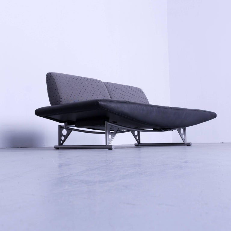 cor cirrus designer sofa black leather function modern made in germany for sale at 1stdibs. Black Bedroom Furniture Sets. Home Design Ideas