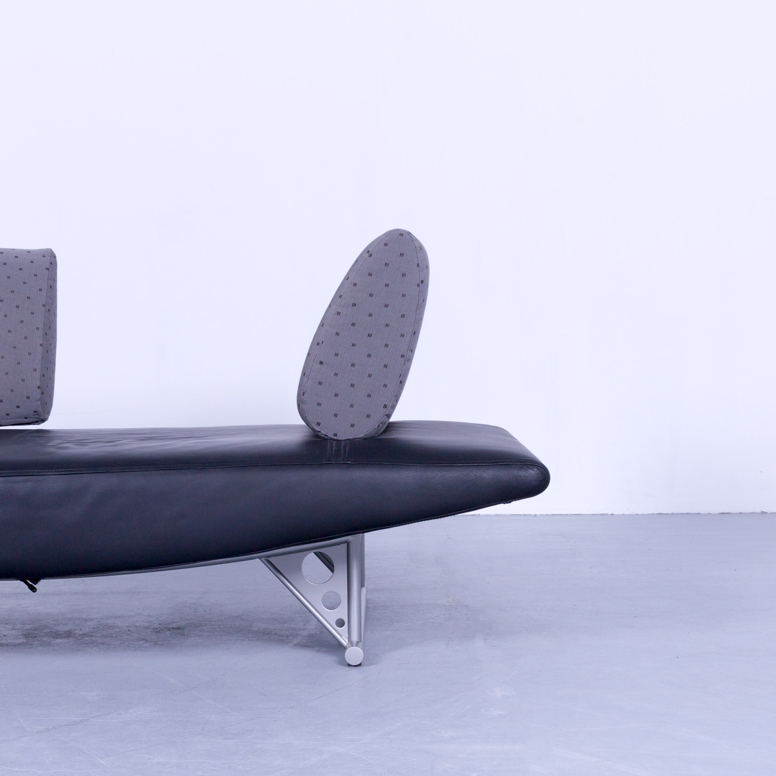Cor Cirrus Designer Sofa Black Leather Function Modern Made In