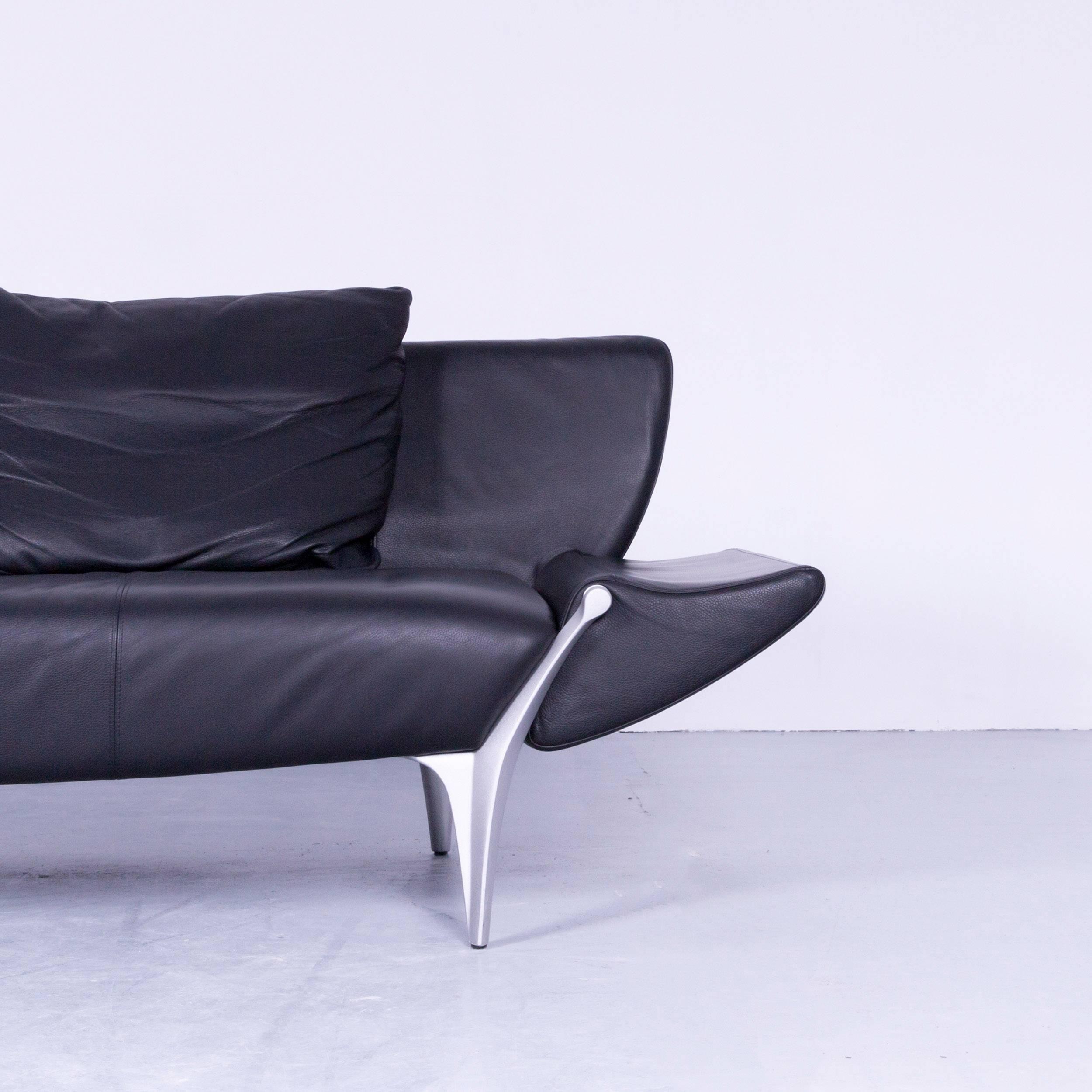sofa schwarz leder awesome sofa schwarz leder beispiel. Black Bedroom Furniture Sets. Home Design Ideas