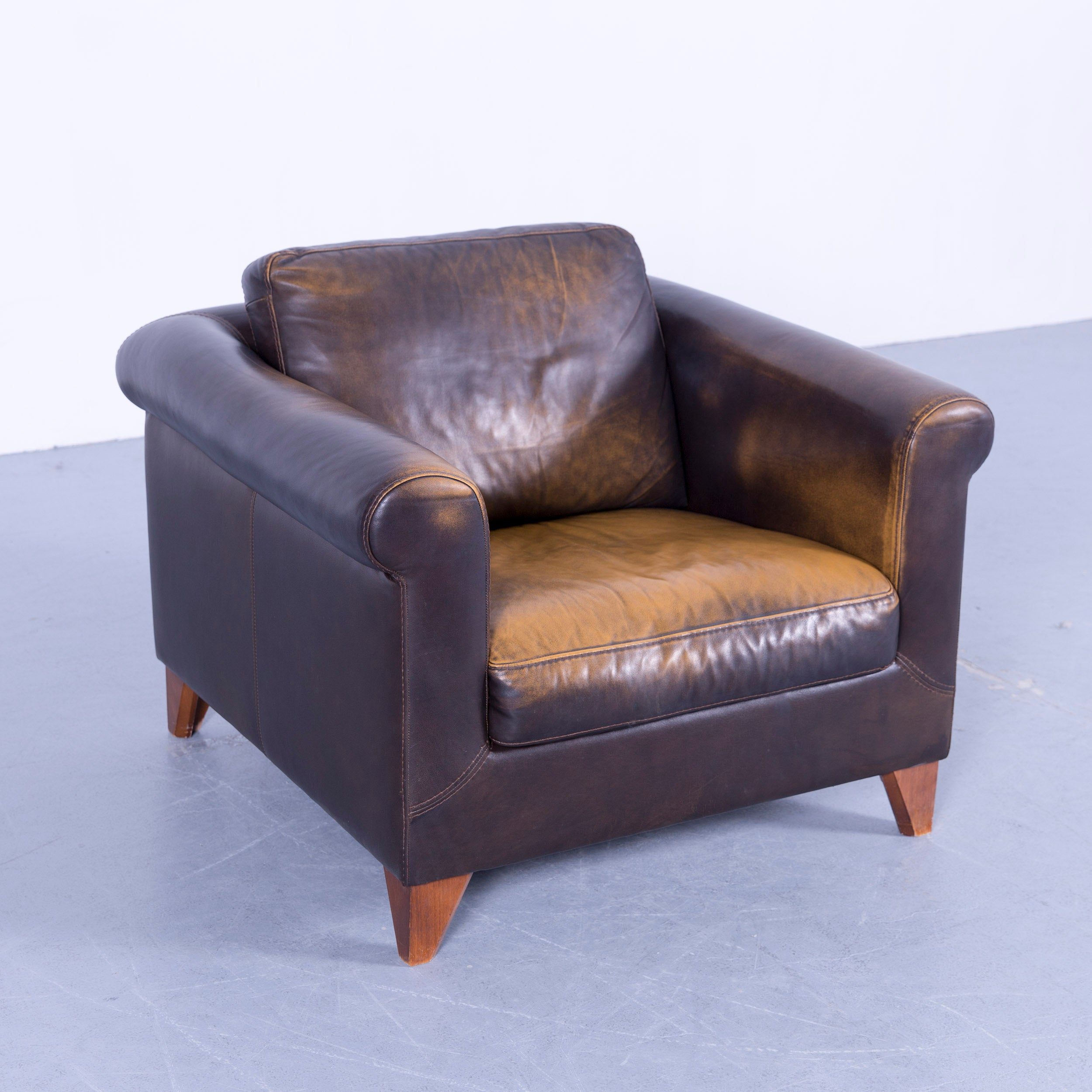 Beautiful Machalke Designer Armchair Leather Brown One Seat Couch Modern At  Stdibs With Leder Couch