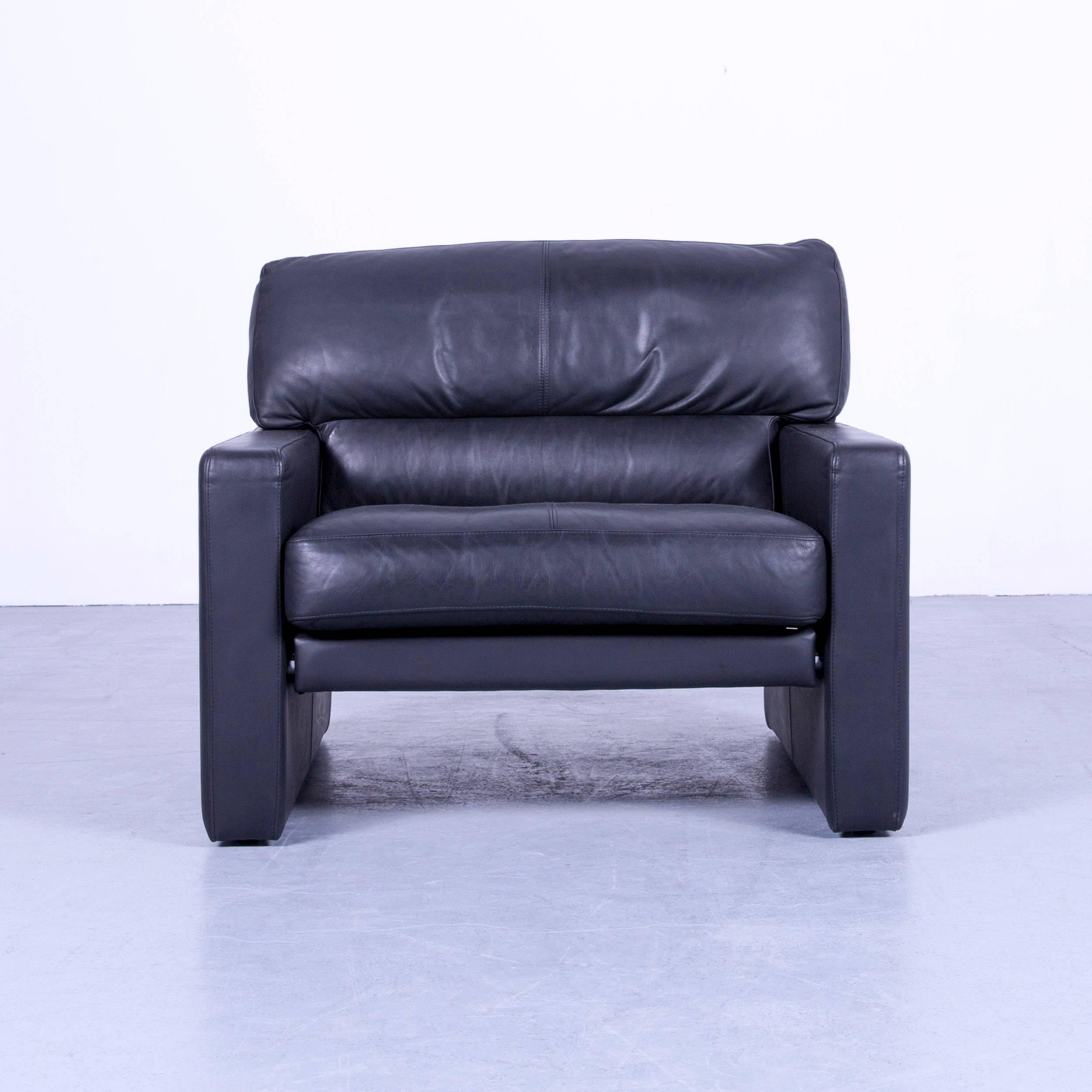 WK Wohnen Designer Armchair Leather Black Couch Modern at 1stdibs