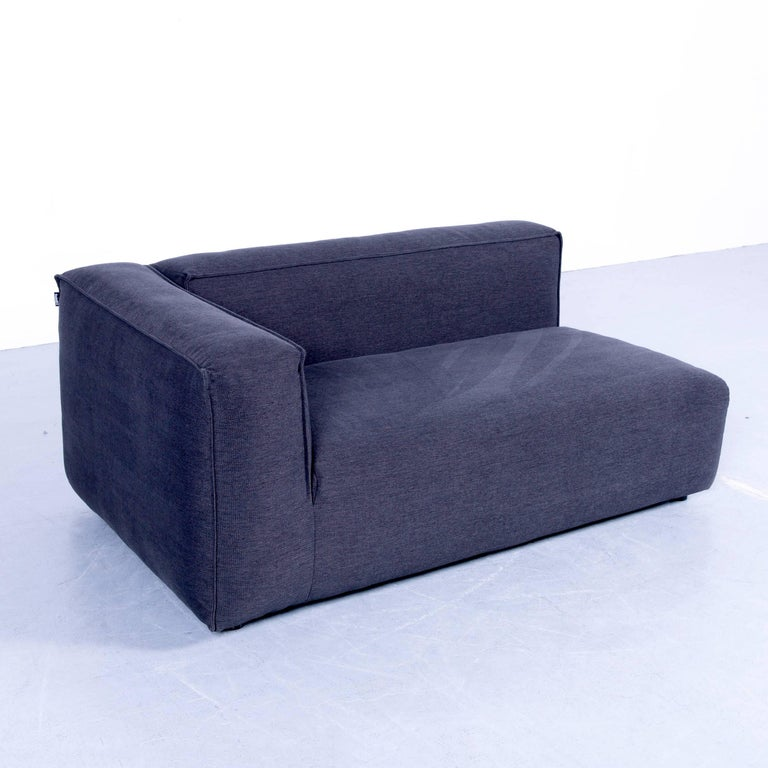 freistil rolf benz two seat sofa daybed recamiere grey fabric modern comfy for sale at 1stdibs. Black Bedroom Furniture Sets. Home Design Ideas