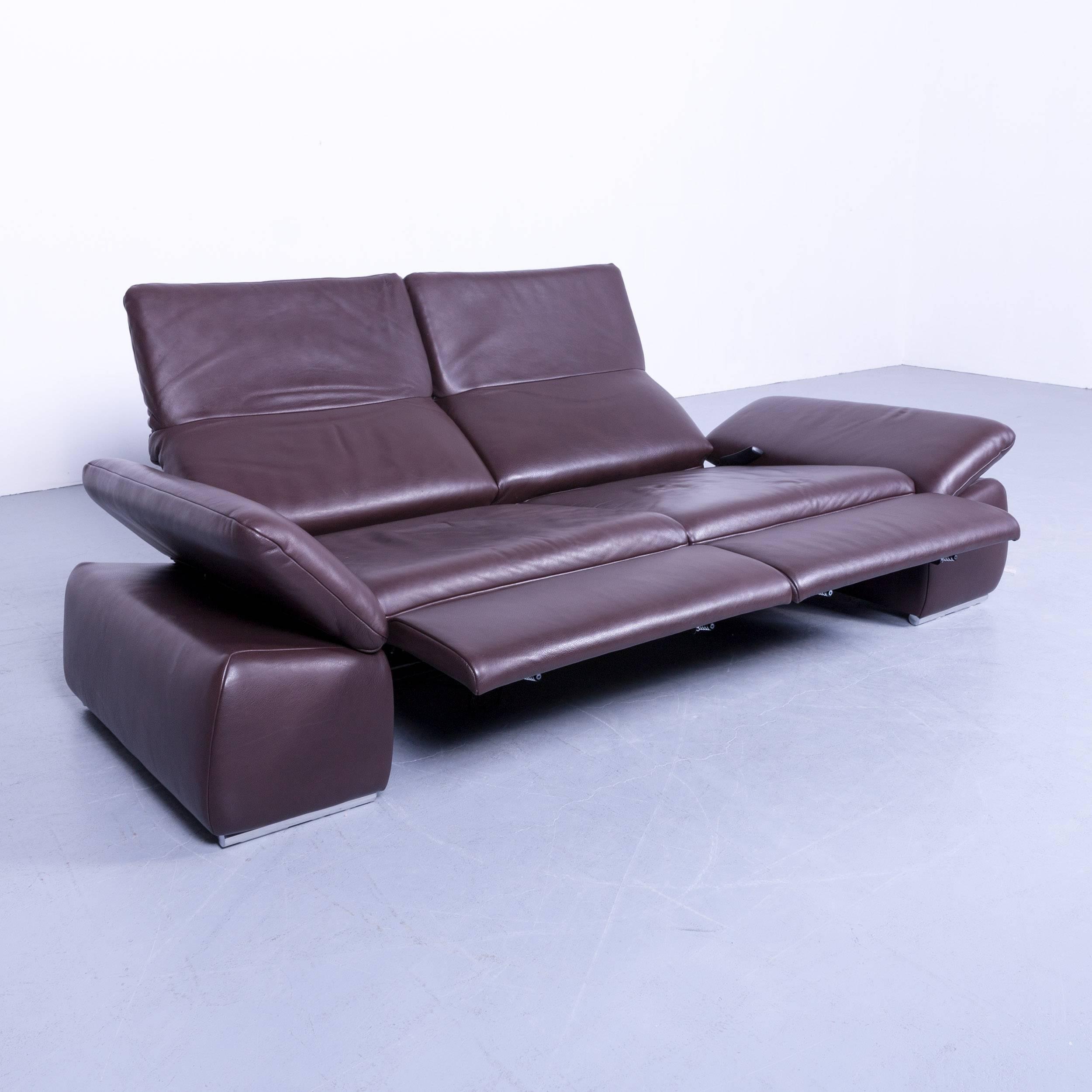 couch leder elegant leder sofaset summer tlg braun with. Black Bedroom Furniture Sets. Home Design Ideas