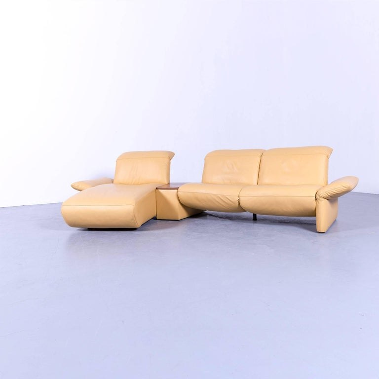Yellow Leather Sectional Sofa: Koinor Elena Designer Corner Sofa In Yellow Leather