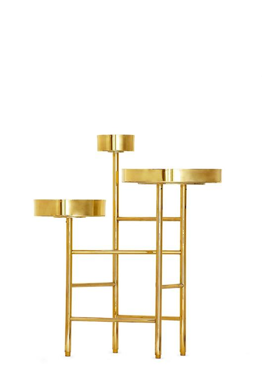 This brass side table is from our OCD collection. Obsessive–compulsive disorder (OCD) is a mental disorder where people feel the need to check things repeatedly, have certain thoughts repeatedly, or feel they need to perform certain routines