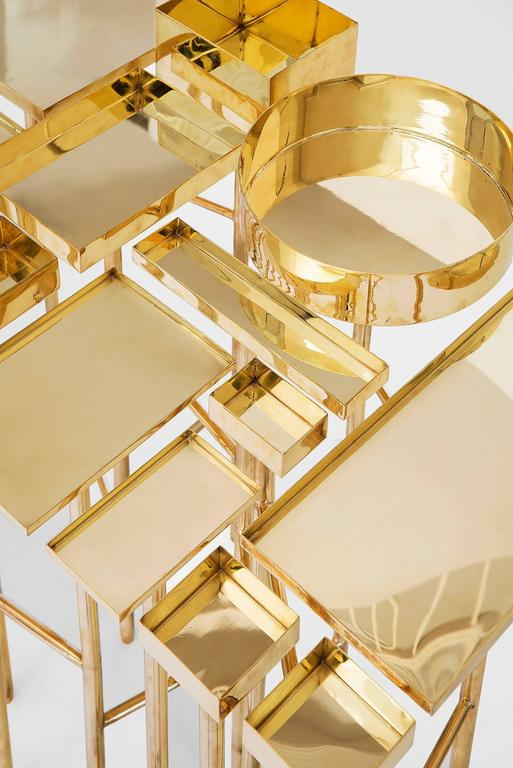 Modern Brass Table 1A, the OCD Collection For Sale