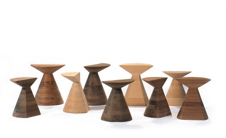 Other 'Ban' Stool in Walnut Hardwood, Small For Sale