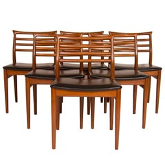 Set of Six Erling Torvits Teak Dining Chairs