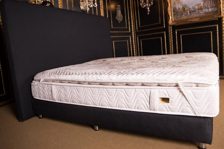 Luxurious designer bed with quilted silk cover for sale at for Quilted bed frame