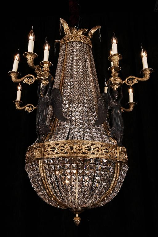 Representative bronze chandelier with crystal pierre philippe empire representative bronze chandelier with crystal pierre philippe thomire for sale audiocablefo