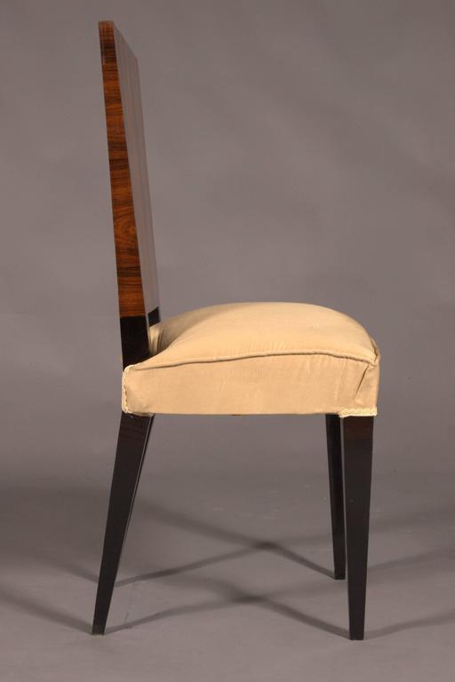 Elegant Chair in Art Deco Style, Rosewood Veneer In Good Condition For Sale In Berlin, DE