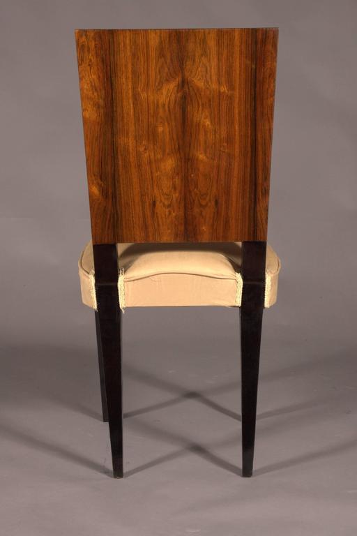 20th Century Elegant Chair in Art Deco Style, Rosewood Veneer For Sale
