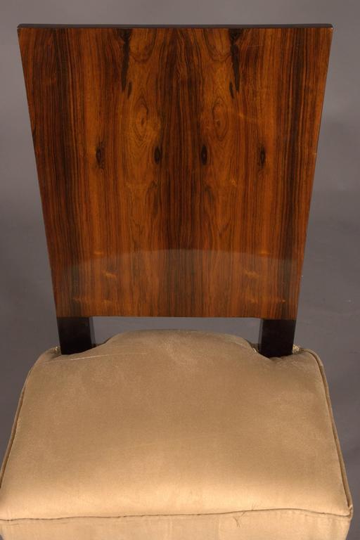 Elegant Chair in Art Deco Style, Rosewood Veneer For Sale 1
