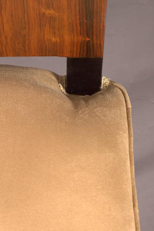 Elegant Chair in Art Deco Style, Rosewood Veneer For Sale 2