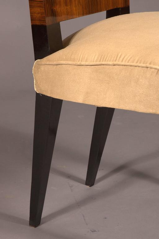 Elegant Chair in Art Deco Style, Rosewood Veneer For Sale 4