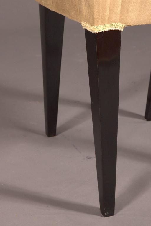 Elegant Chair in Art Deco Style, Rosewood Veneer For Sale 5