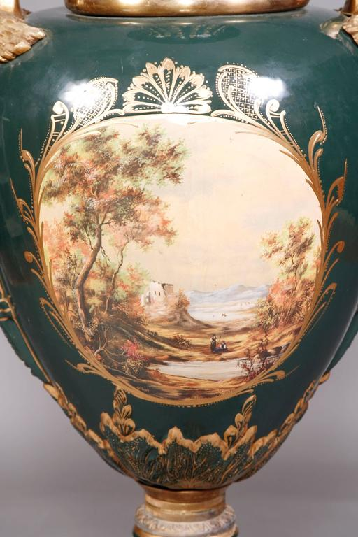 Bronzed Majesatical Sevre Vase in 18th Century Style, Paris For Sale