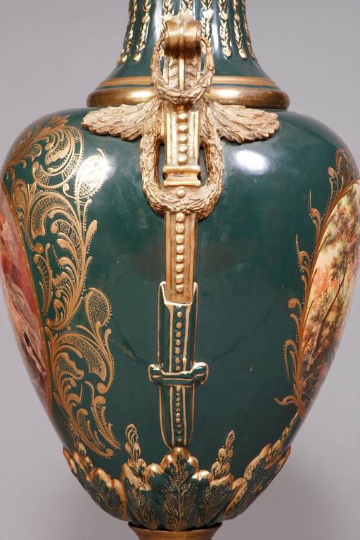 Ceramic Majesatical Sevre Vase in 18th Century Style, Paris For Sale