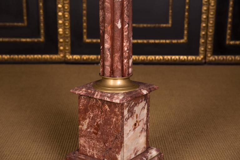 High Quality Marble Column with Bronze in the Style of Classicism For Sale 1