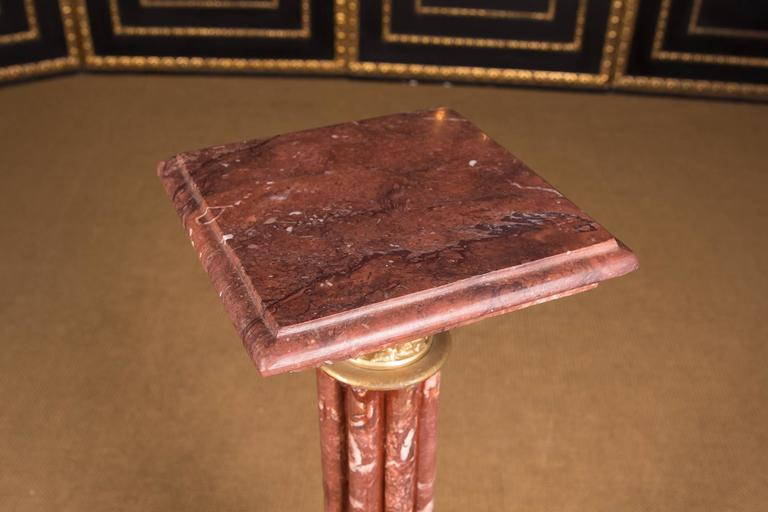 High Quality Marble Column with Bronze in the Style of Classicism For Sale 2