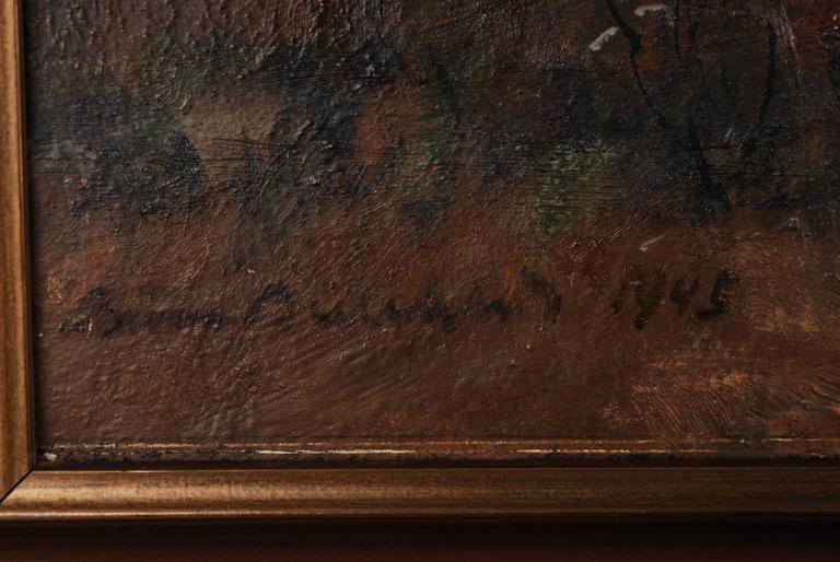Rural Panorama Painting by Bruno Bielefeld In Good Condition For Sale In Berlin, DE