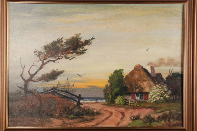 Paper Rural Panorama Painting by Bruno Bielefeld For Sale