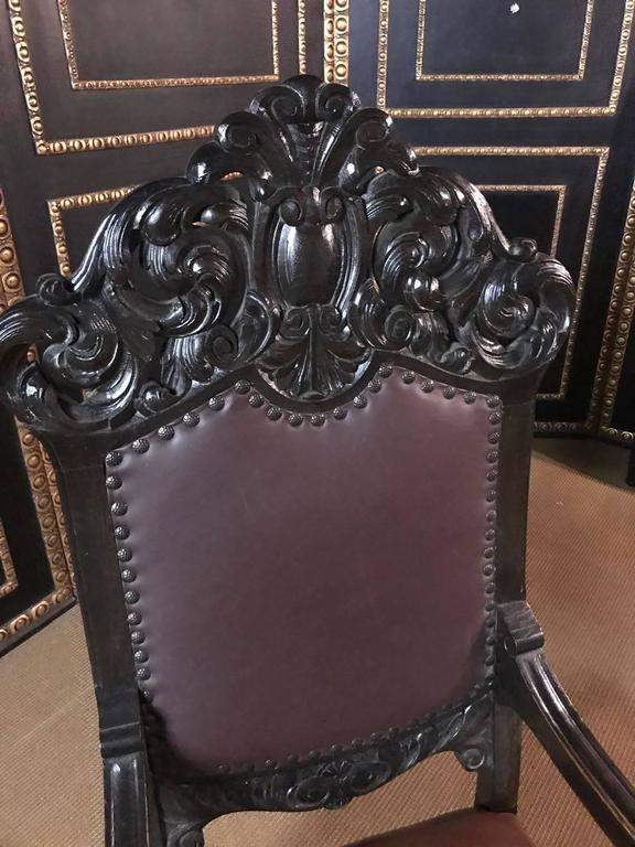 French 19th Century, Neo Renaissance Armchair For Sale