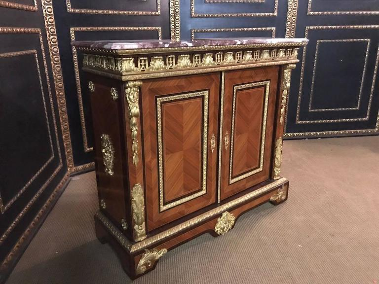 Imposing french meuble d 39 appui cabinet in louis xiv style for Meuble for french furniture