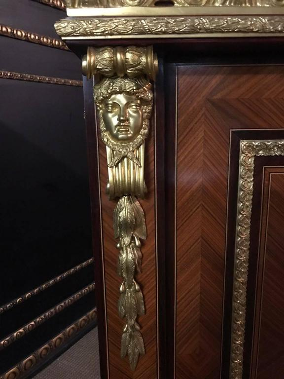 Imposing french meuble d 39 appui cabinet in louis xiv style for Meuble louis xiv