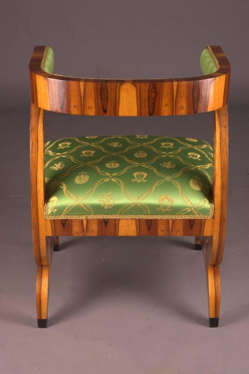 German Armchair after Josef Danhauser Vienna in Biedermeier Style For Sale